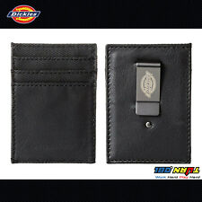 NEW Dickies Men's Front Pocket Black Wallet with Metal Money Clip 31DI16001