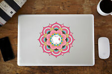 "Pink Mandala Flower Decal Sticker for Apple MacBook Air/Pro Laptop 13"" 15"""