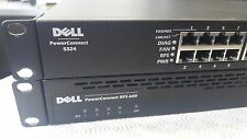 LOT OF 2 Dell PowerConnect 5324 24-Port Switch & RPS-600 Redundant Power Supply