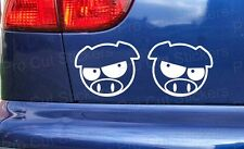 75mm (7.5cm) Small Angry Pigs Stickers Decals Graphics JDM Subaru DUB EURO JAP