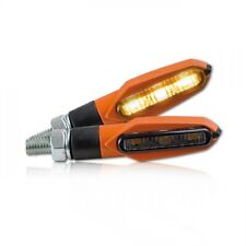 orange LED Mini Blinker KTM Glas schwarz smoked LED signals indicators plug&play