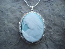 VIRGIN MARY & BABY JESUS (MOTHER/BABY) CAMEO LOCKET- CROSS- QUALITY-MOTHER  MARY