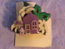LUCINDA HOUSE PIN Surrounded by Lillie's Realtor Florist Easter Purple Bird