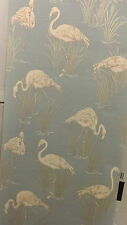 252605 bleu doux art & essai lagune Flamingo Vintage Luxury Vinyl Fond d'écran Design