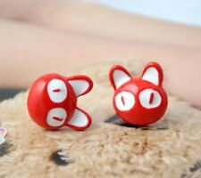 "KIKI""s Delivery Service 3D Red Cat Japan Studio GHIBLI Kawaii Studs Earrings"