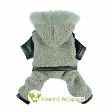 "Fitwarm 14""Chest Boy Fleece Pet Jumpsuit for Small Dog Clothes Winter Warm Coat"