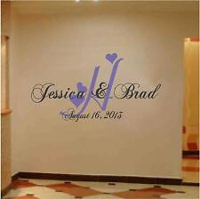 Monogram Wedding Wall / Floor  Decoration with Names and Date