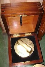 Antique L Oertling 2500 Troy Ounce Brass Counterweight with Carrying Case - RARE