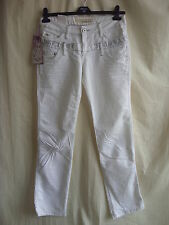 "Ladies Jeans CIPO & BAZZ WMN - 29W"" & 32L, white, high waist *NWT* - 8179"