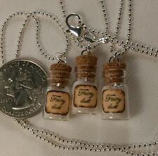 FAIRY DUST magic glow in the dark 3 pcs tiny bottle vial necklaces
