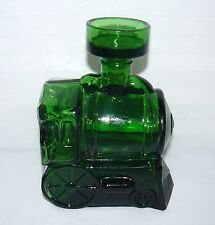 BREVETTATO ITALY GREEN GLASS STEAM ENGINE DECANTER WITH STOPPER