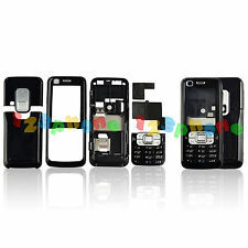 FULL HOUSING CASE + BATTERY COVER + KEYPAD + SCREEN LENS FOR NOKIA 6120 #H-458_B