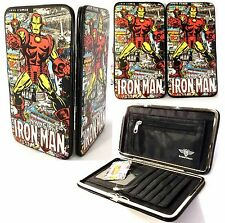 Buckle Down Women's Marvel Invincible IRON MAN Hinged Card Case Wallet - NWT
