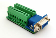 DB15 DSUB 15pin HD Female Adapter VGA Breakout Board Connector D4 £8.75 FREE p&p