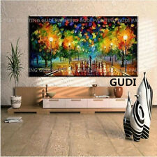 GUDI-Huge Hand-painted Decor Art Abstract Oil Painting Canvas,Daisy Unframed