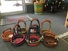 WHOLESALE Lot of 10 AUTHENTIC Mimi BOLGA Round Baskets from GHANA