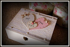 Wedding Wooden Keepsake Box Personalised Bride &Groom Gift Anniversary Mr & Mrs