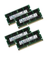 4x 8GB 32GB DDR3 RAM 1600 MHz für Dell Precision M6500 - Samsung PC3-12800