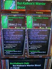 DIABLO 3 PS4 ANCIENT BARBARIAN RING WEAPON OR ARMOUR, BUL KATHOS'S - SKULAR'S ?