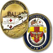 USNS Mercy Challenge Coin Hospital Ship T-AH 19 Medical Navy Naval US USN USS Dr
