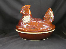 Vintage Hull Pottery Chicken Casserole, Brown Drip