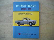 Datsun 1962-1965 Model 320 Pick-Up Truck Owners Manual. Reprint
