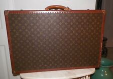 VINTAGE AUTHENTIC LOUIS VUITTON HARD SUITCASE TRUNK LUGGAGE TAG & KEY