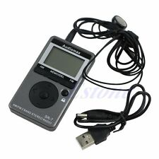 Digital Portable Stereo Radio AM FM 2 Bands Electric Tuning Receiver + Earphone