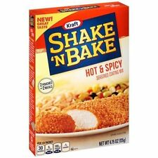 Kraft Shake N Bake Seasoned Coating Mix Box, Hot and Spicy 4.75 Oz Pack of 4