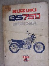 1976 Suzuki GS750 Motorcycle Service Manual 4 Stroke Cycle Engine Maintenance  L
