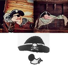 Newborn Baby Boys Crochet Knit Costume Photo Photography Prop Outfits Pirate