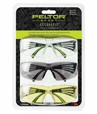NEW Peltor SecureFit 400 Eye Protection 3 pack Amber, Clear, Gray SF400-P3PK-6