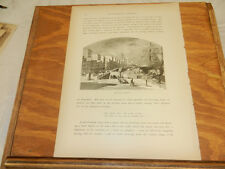 1874 Antique Print/ST. LAWRENCE RIVER FRONT, MONTREAL