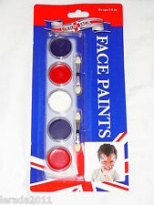 UNION JACK FACE PAINTS RED BLUE WHITE PAINTING MAKE UP WORLD CUP FOOTBALL
