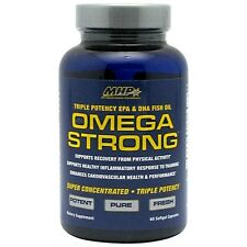 MHP OMEGA STRONG Omega-3 Fish Oil 1540mg, EPA & DHA - 60 Softgels