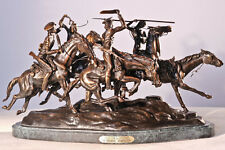 """Old Dragoons"" Lost Wax Bronze Sculpture by Frederic Remington Regular Size"