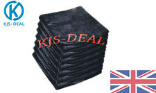 12X LARGE MICROFIBRE BLACK QUALITY CLEANING AUTO CAR DETAILING CLOTHS WASH TOWEL