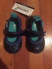 Chooze Navy Sparkle Sneaker NWOB Retail $50 Size 5 Toddler