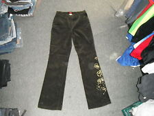 """Olsen Bootcut Studded Cords Size 12 Leg 32"""" Faded Brown Ladies Cord Jeans"""