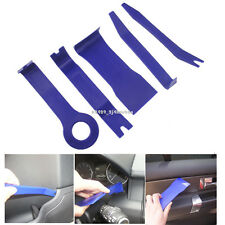 5x Blue Open Pry Tools Car Door Radio Trim Dash Audio LED Light Lamp Removal Kit