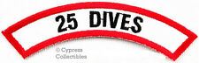 25 DIVES CHEVRON - SCUBA DIVING iron-on DIVE CERTIFICATION PATCH embroidered