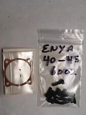 ENYA 40-45 BB 6002 GASKET & ALLEN HEAD SCREW SET NIP. REPLACE THOSE BAD PHILLIPS