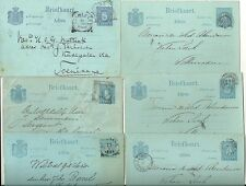 1881/1900  6 x NETHERLANDS INDIES USED POSTAL STATIONERY CARDS