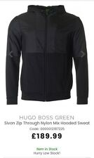 Men's Hugo Boss Green Hoody - Silvon Zip Through Hoodie Sweat MEDIUM NEW