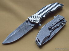 MTECH XTREME U.S FLAG WITH EAGLE TACTICAL SPRING ASSISTED KNIFE **RAZOR SHARP**