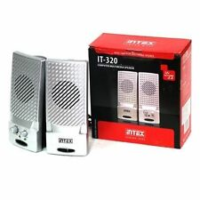 Intex IT-320 2.0 Channel Multimedia Speaker for PC/Laptop/Desktop, 3.5mm Jack