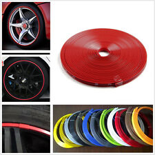 Red Car Motor Bike Wheel Hub Rim Edge Protector Ring Sticker Line Rubber Strip