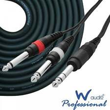 Ukdj 1.5m 6.35mm Jack Estéreo a 2 X 1/4 pulgadas Jacks Mono Cable Ofc De Audio Lead HQ