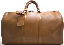 Louis Vuitton EPI KEEPALL 45 Reise Tasche Bag Braun Brown Beige Rare Weekender