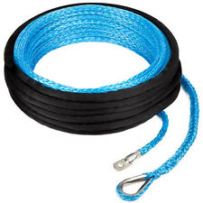 New Dyneema Synthetic Winch Rope/Cable 10MM*15M SUV/JEEP/TRUCK OffRoad Recovery